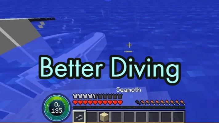 Better Diving Mod 1.16.5/1.15.2