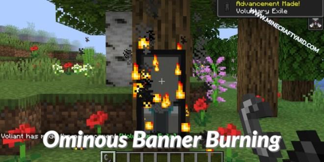 Savage and Ravage Ominous Banner Burning