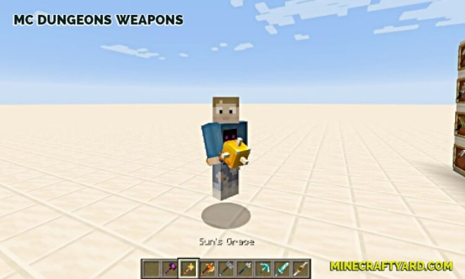 MC Dungeons Weapons Mod 6
