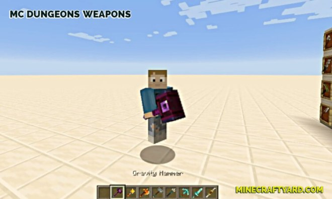 MC Dungeons Weapons Mod 2