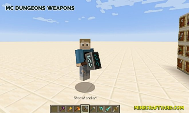 MC Dungeons Weapons Mod 4