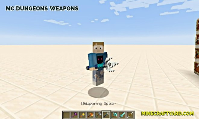 MC Dungeons Weapons Mod 5