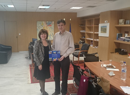 20-02-18 Επίσκεψη της Πρέσβειρας της Σλοβακίας κας Iveta Hricova στην Ελλάδα, στον Υφυπουργό Παιδείας, κ. Δημήτρη Μπαξεβανάκη