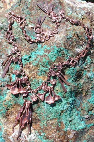 copper pod necklace