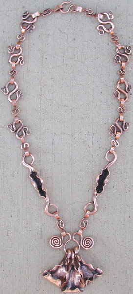 hot-forged copper necklace