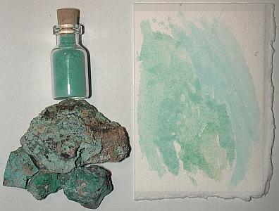 copper ore pigment
