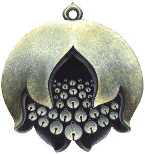bronze bell pomegranate