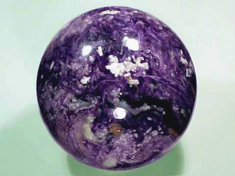 Charoite Spheres and Eggs