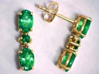 TSAVORITE GARNET Jewelry: 14k Tsavorite Earrings ...
