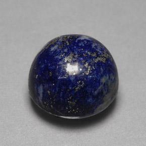 Round Cabochon Lapis Lazuli Gemstone Image