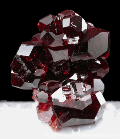 Blood Red Uvite Crystals - The Mineral and Gemstone Kingdom