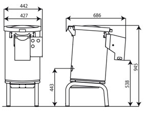 Automatic machines for washing and peeling potatoes and