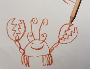 crab Dog Loves Drawing