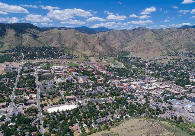 Aerial view of Colorado School of Mines
