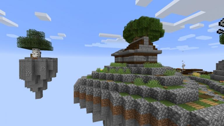 SkyBlock Evo map for Minecraft 1.14 - evolution of floating island maps