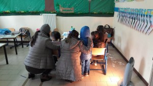 Questa è un'immagine proveniente da una delle aule di una scuola di Caivano