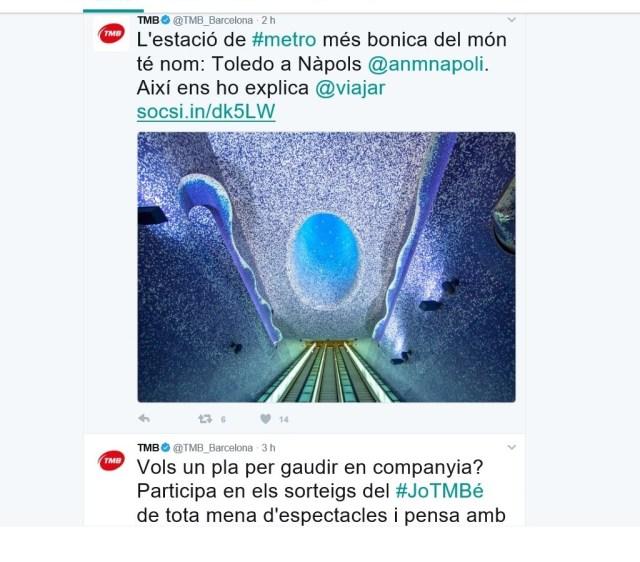Tweet della Tmb