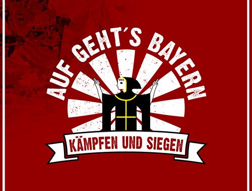 Auf gehts Bayern kämpfen und siegen Motiv