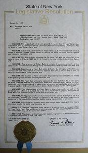 纽约州立法决议