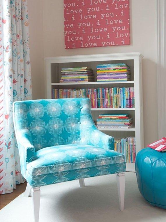 Cantinho de leitura decorado