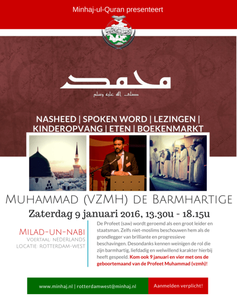 20160109 - MuhammaddeBarmhartige Flyer (RotterdamW)