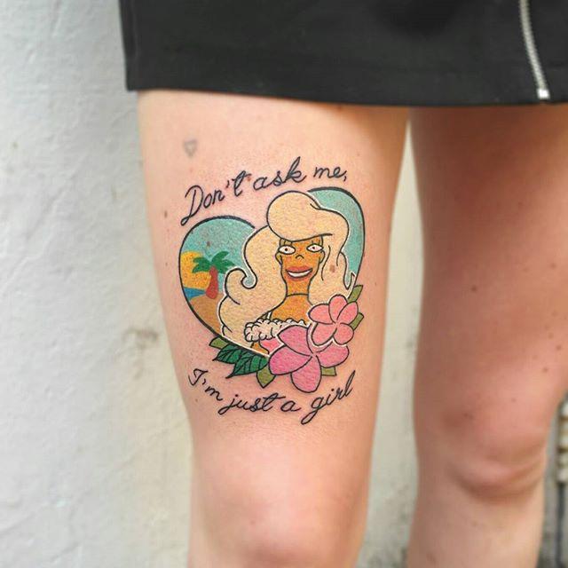 Tatuagens Femininas Na Perna E Coxa