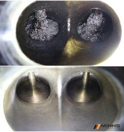 carbon cleaning of n63 intake valves [ 900 x 940 Pixel ]
