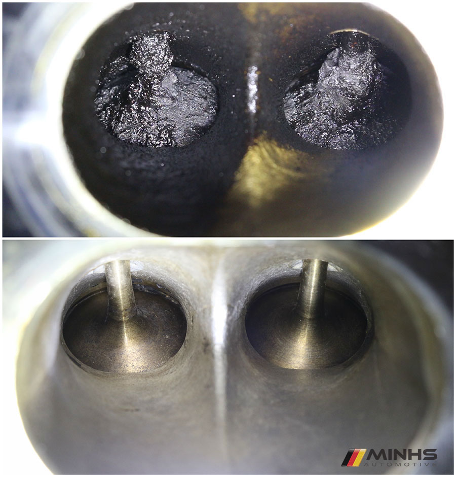 medium resolution of carbon cleaning of n63 intake valves