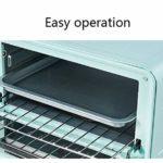 12L Mini-four Grille-pain électrique Contrôle De Température Réglable 3D Recirculation Home Baking Cake Pizza Multifonction 750la-bleu