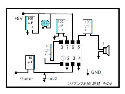 386煙AMP 研究編 (百煙アンプ 紹介ページ 386利用の手作りギターアンプ)