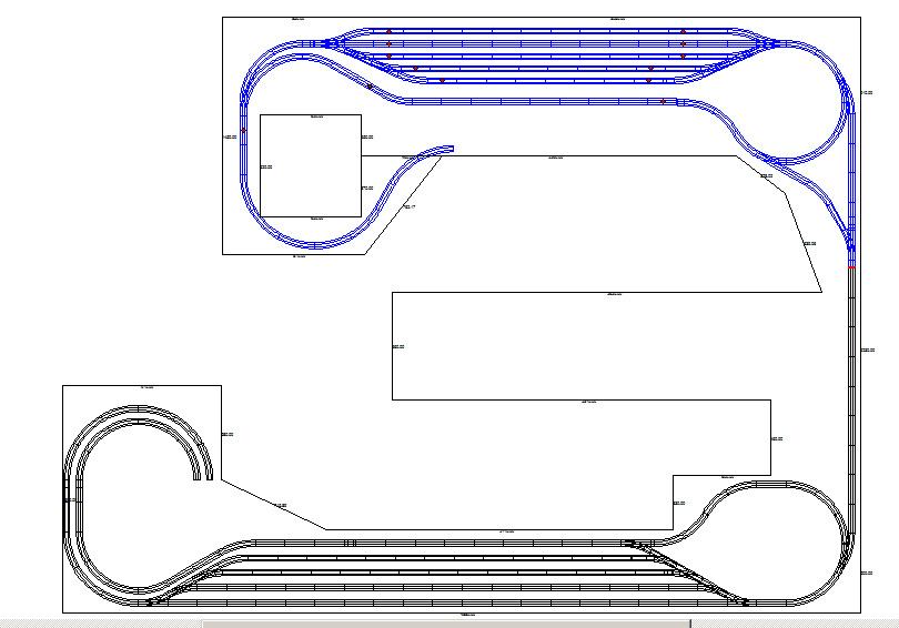 Gleisplan untere Ebene