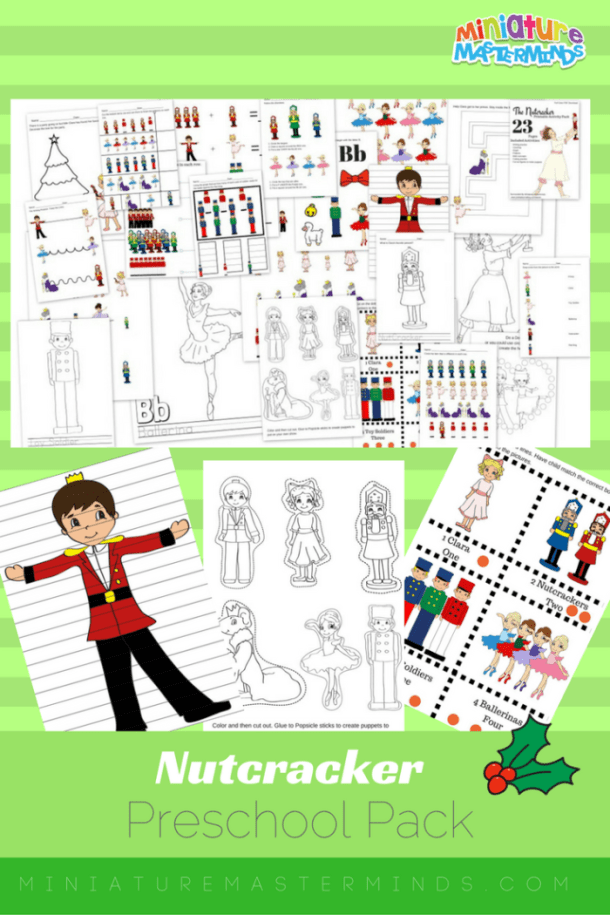 Nutcracker Preschool Educational Printable Pack For christmas