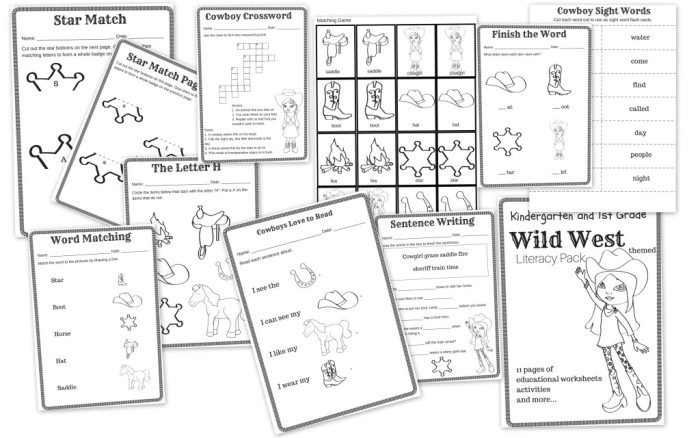 Wild West Themed Literacy Pack