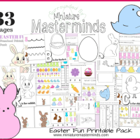 33 Pages of Easter Fun FREE Preschool and Toddler Printable Activities!
