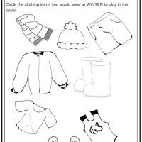 Winter Weather Wear Preschool Worksheet - What would you wear on a cold day?