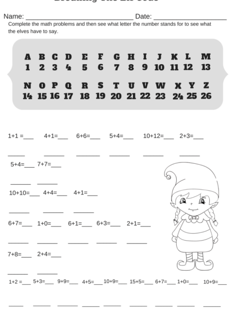 Two First Grade Math Worksheets