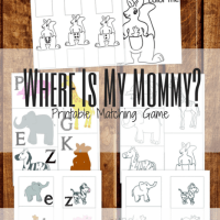 Where is My Mommy? Printable Animal Matching Game