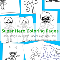 Free Printable Super Hero Coloring Pages Plus Design Your Own Super Hero Paper Doll