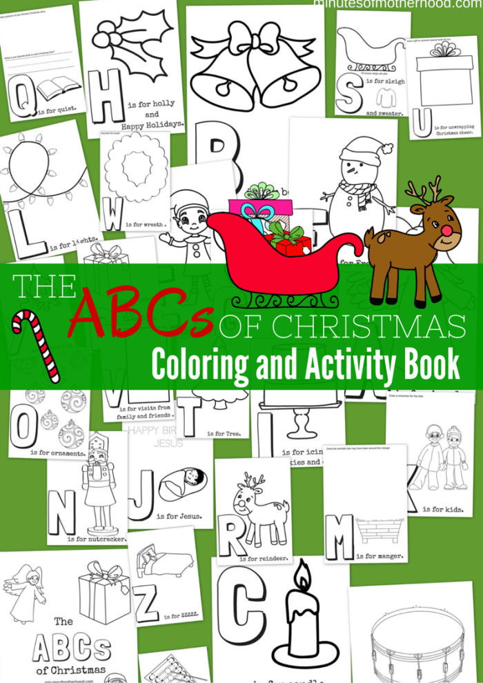 The ABCs of Christmas Free Printable Coloring and Activity ... | christmas coloring pages  booklet