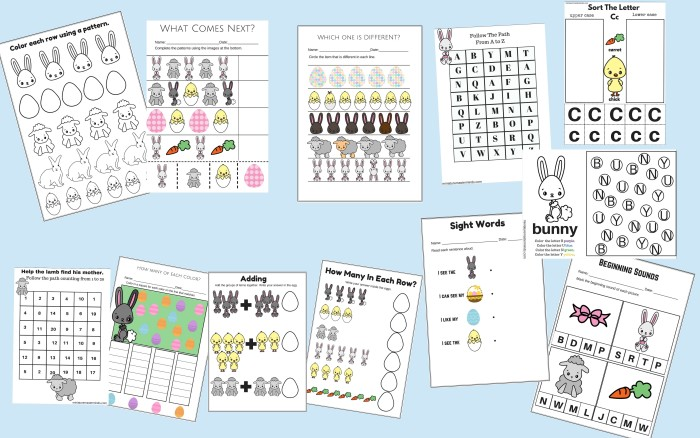 59 Page Printable Easter Activity Pack Math And Language