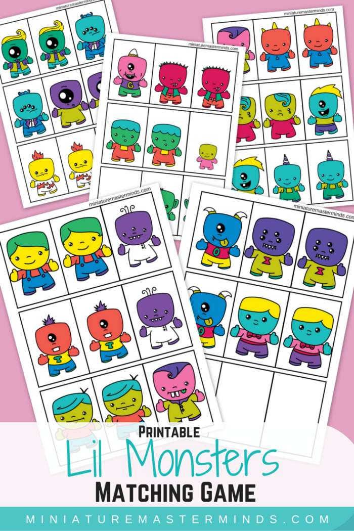 Lil Monster Matching Game