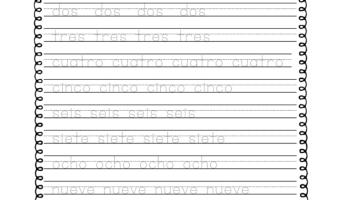 Spanish To English Word Number Matching Worksheet – Miniature ...