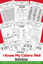 I Know My Colors Red Printable Book