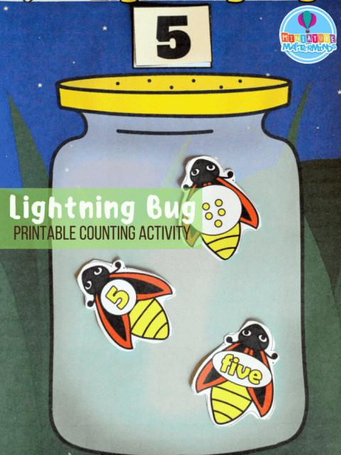 Counting Lightning Bugs Free Printable Preschool Math Activity