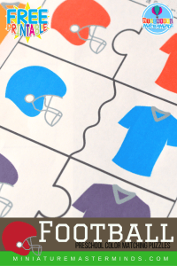 Free Printable Football Themed Color Matching Puzzles ...