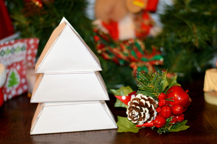 Color And Build Desk Top Christmas Tree Kid Craft