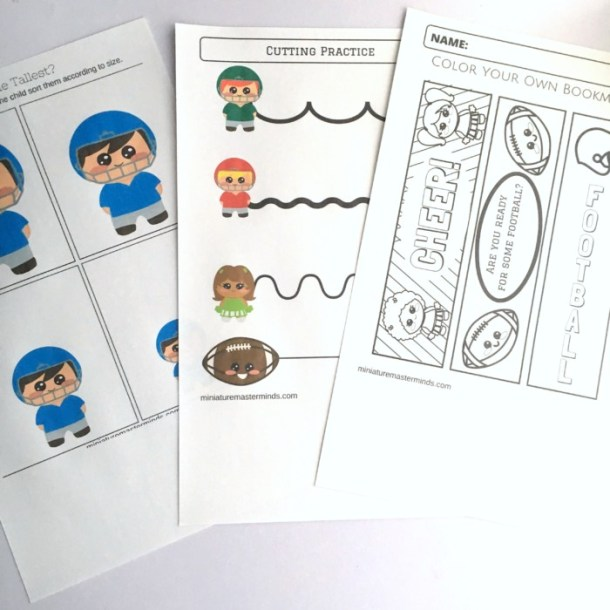 60 Page Preschool and Kindergarten Football Themed Free Printable Worksheet and Activity Book