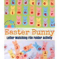 Easter Bunny Alphabet Upper And Lower Case Letter Matching File Folder Activity