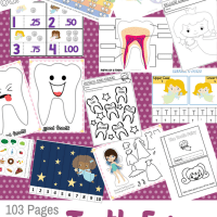 The Tooth Fairy  103 Page Printable Preschool/Kindergarten Educational Pack