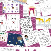 The Tooth Fairy  103 Page Printable Preschool/Kindergarten Educational Pack